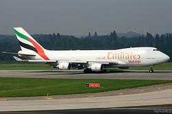 Boeing 747-4HA/F/ER/SCD Emirates SkyCargo OO-THC