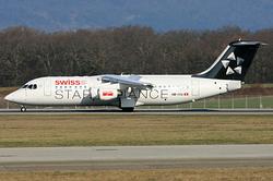 British Aerospace Avro RJ100 Swiss European Air Lines HB-IYU
