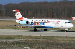 Fokker 100 Austrian arrows OE-LVM