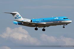 Fokker F70 KLM Cityhopper PH-KZB
