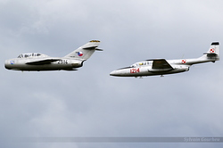 PZL-Mielec TS-11 Iskra 1214 / SP-YBC & Mikoyan-Gurevich MiG-15UTI 2514 / OK-UTI