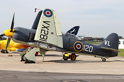 Hawker Sea Fury T20 Royal Navy G-RNHF / VX281 / VL-120