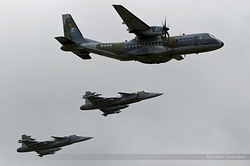 Casa C-295M & Saab JAS-39C Gripen Czech Republic Air Force