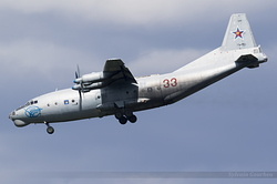 Antonov An-12BK Russian Air Force 33 Red