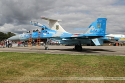 Sukhoi Su-27UB Ukrainian Air Force 67 Blue