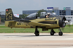 North American T-28B Trojan Red Bull (The Flying Bulls) OE-ESA