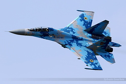 Sukhoi Su-27UB Ukrainian Air Force 71 Blue