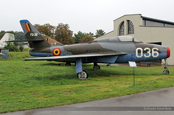 Republic F-84F Thunderstreak Belgian Air Force FU-36