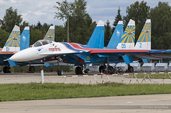 "Sukhoi Su-27P Flanker Russian Air Force ""Russian Knights"" 05 Blue"