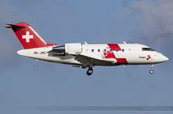 Bombardier CL-600-2B16  REGA Swiss Air Ambulance HB-JWC